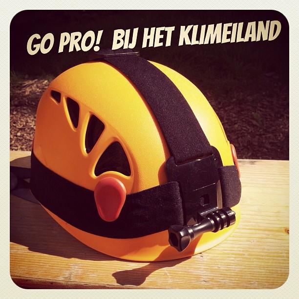 Heb jij een GoPro camera Dan hebben wij een bijpassende helm! Nu te leen bij #klimpark het #klimeiland